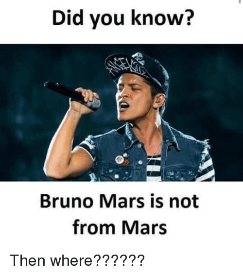 Bruno Mars Meme Funny Image Photo Joke 10