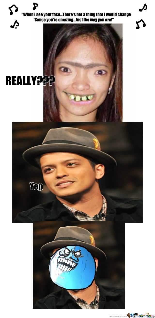 Bruno Mars Meme Funny Image Photo Joke 11