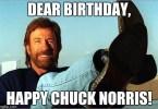 Chuck Norris Happy Birthday Meme Funny Image Photo Joke 01