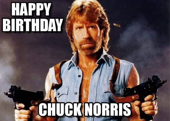 Chuck Norris Happy Birthday Meme Funny Image Photo Joke 05