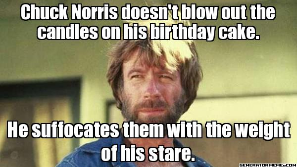 Chuck Norris Happy Birthday Meme Funny Image Photo Joke 14