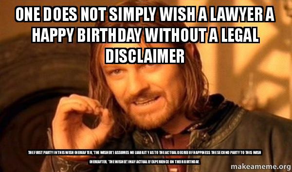 Lawyer Birthday Meme Joke Image 04 QuotesBae