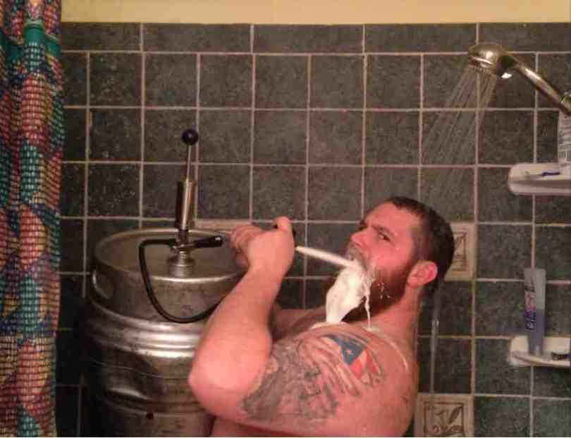 Shower Beer Meme Funny Image Photo Joke 01