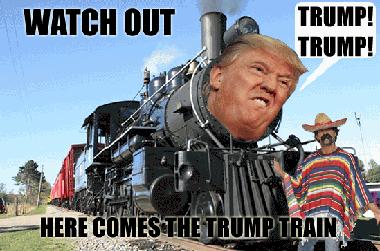 Trump Train Meme Funny Image Photo Joke 03