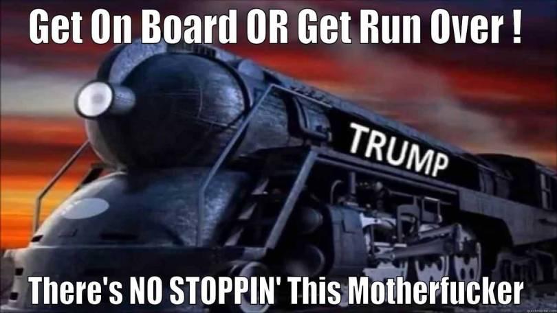 Trump Train Meme Funny Image Photo Joke 05