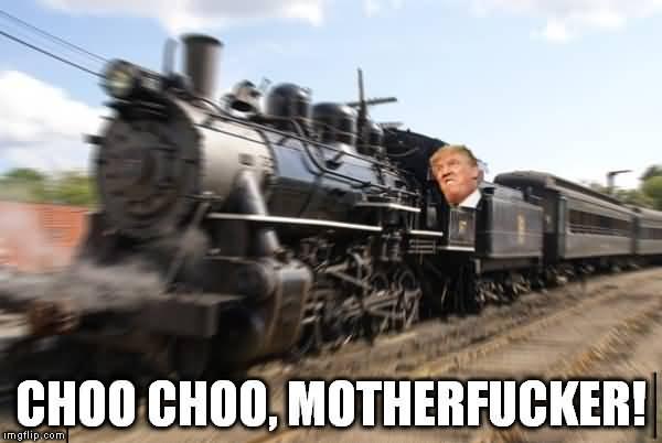 Trump Train Meme Funny Image Photo Joke 11