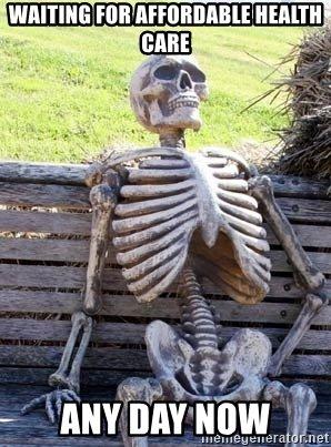 Waiting Skeleton Meme Funny Image Photo Joke 06