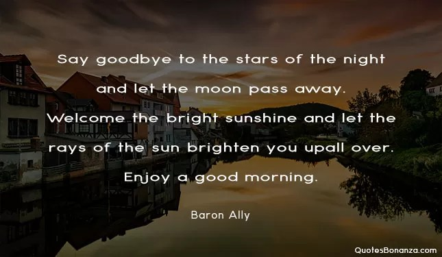 baron ally quote about morning
