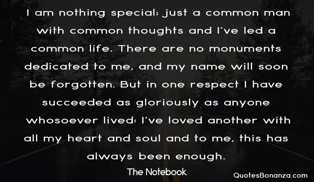 quotes from the notebook
