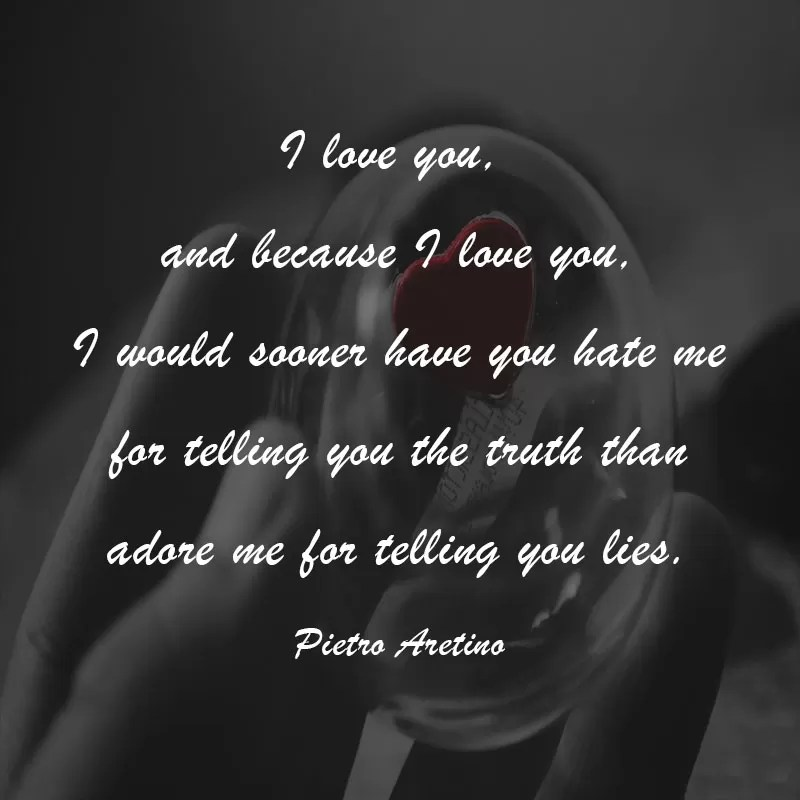 i love you because i love you quote