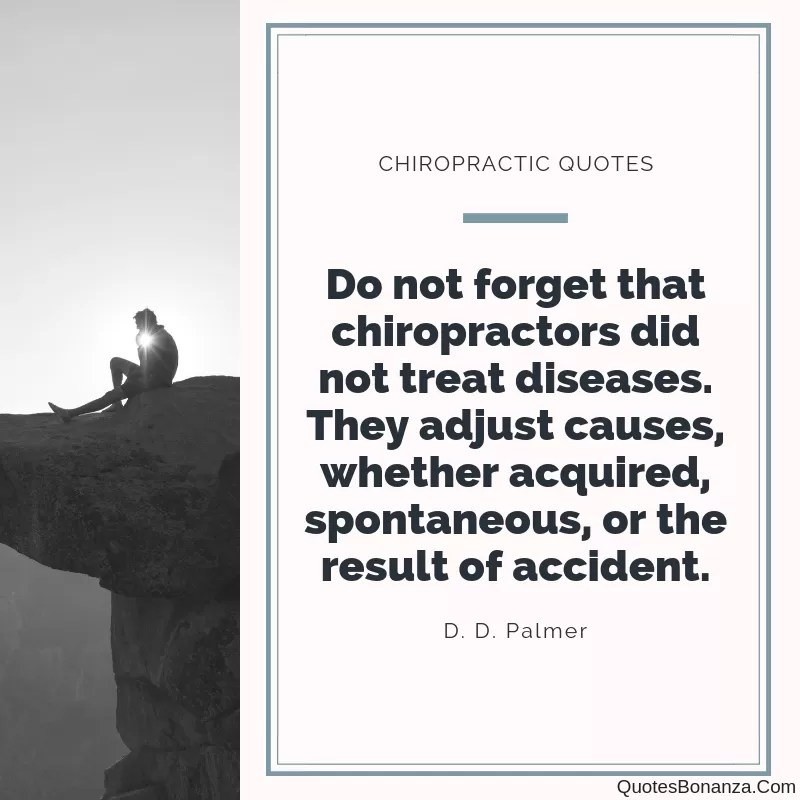 bj palmer chiropractic quotes