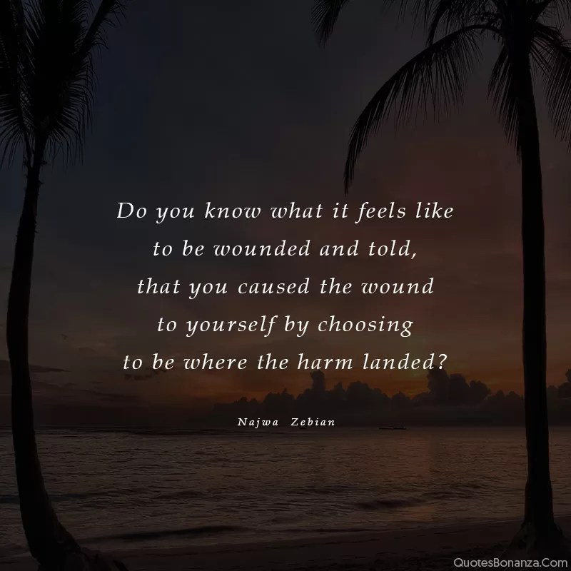 quote about being wounded