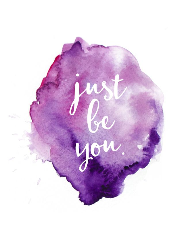 Positive Quotes  justbeyouwatercolorjpg 640850  Quotes Boxes  You number one source