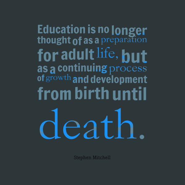 Stephen Mitchell Quote Education