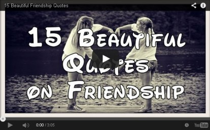 15 Beautiful quotes on friendship