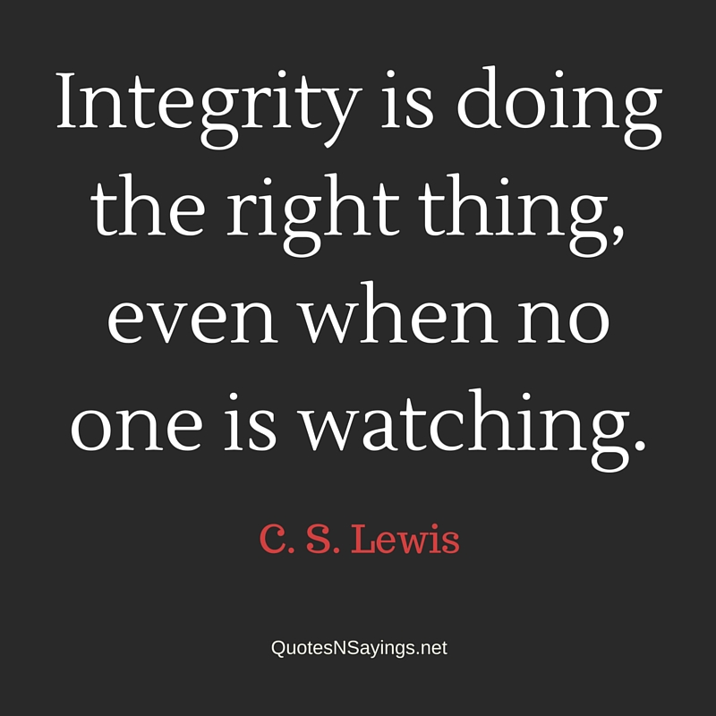 Image result for Quote on Integrity
