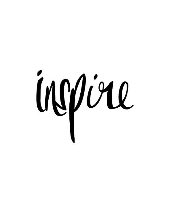 Motivational Quotes : Inspirational Print Inspire Black
