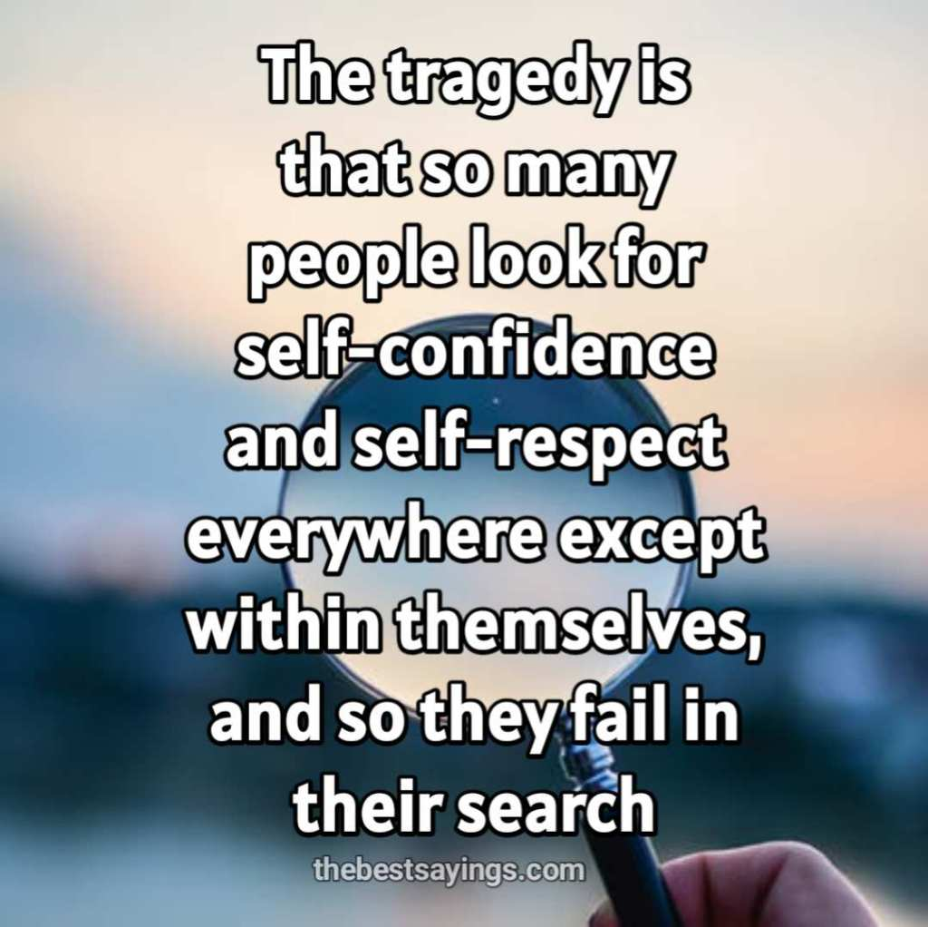 self-confidence and self-respect