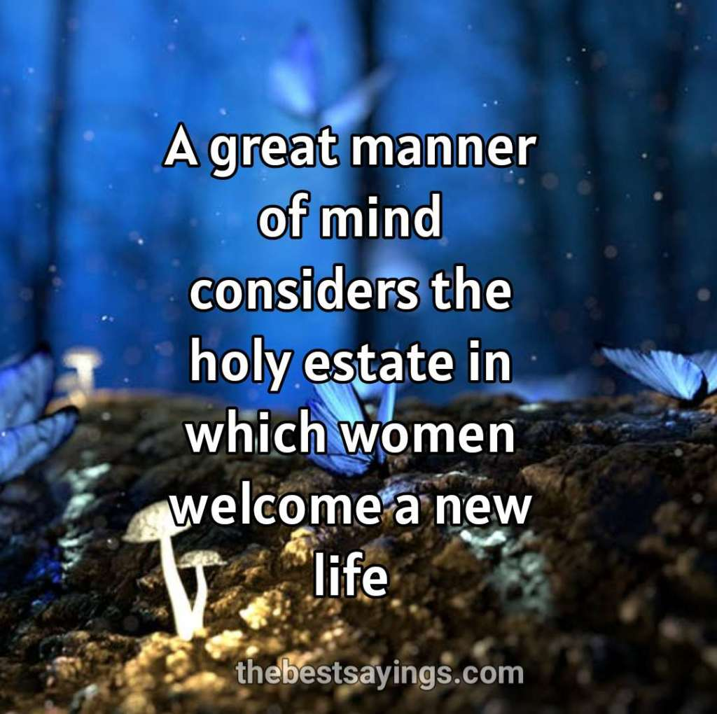 women welcome a new life