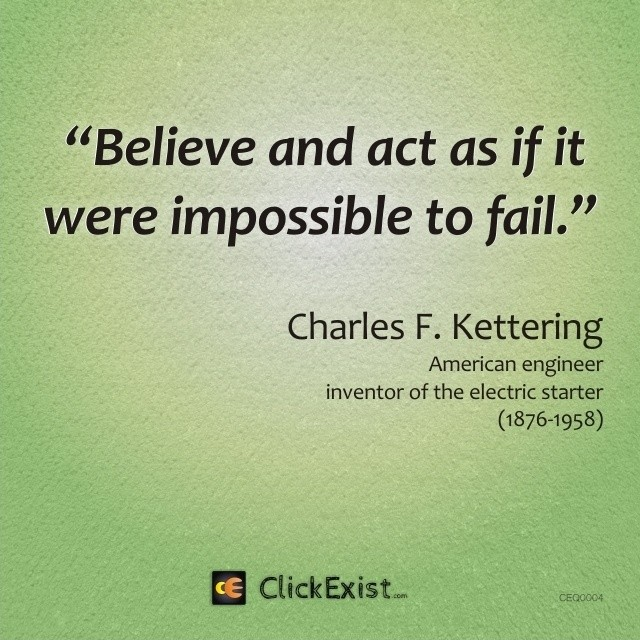 Image result for quote:if it were impossible to fail...