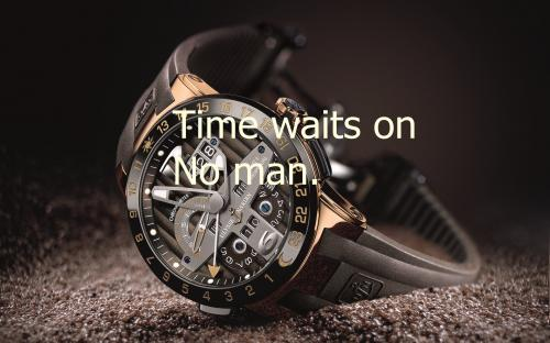 """ Time Waits On No Man "" ~ Success Quote"