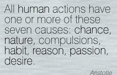 All Human actions have One or More of these Seven Causes