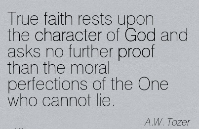 """""""Let God be true but Every man a Liar"""" is the language of"""