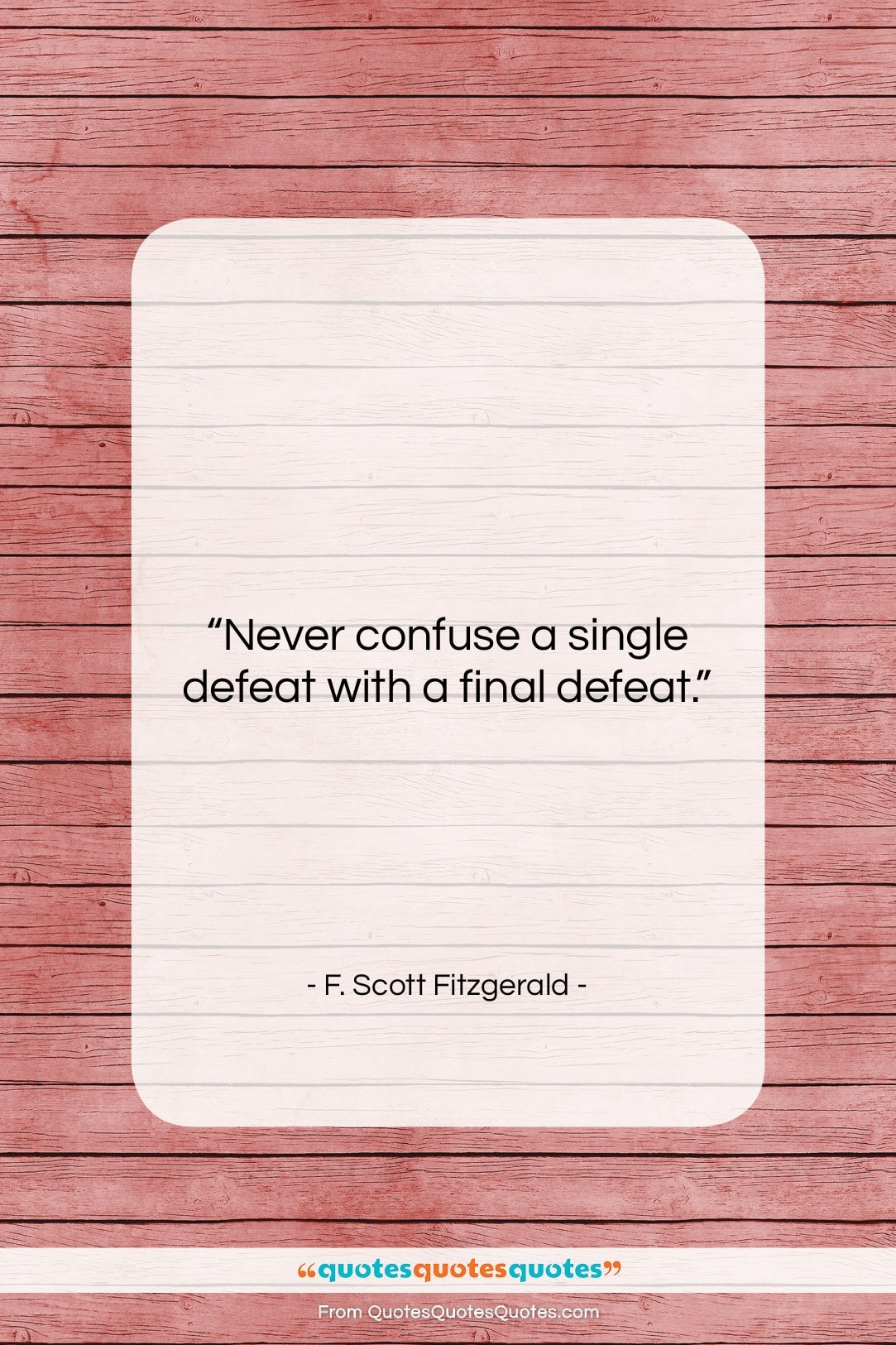 Get the whole F. Scott Fitzgerald quote: \