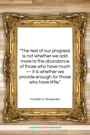 "Franklin D. Roosevelt quote: ""The test of our progress is not…""- at QuotesQuotesQuotes.com"