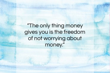 "Johnny Carson quote: ""The only thing money gives you is…""- at QuotesQuotesQuotes.com"