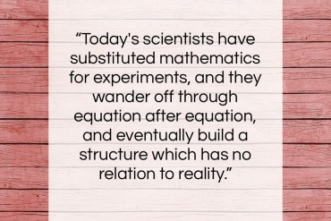 """Nikola Tesla quote: """"Today's scientists have substituted mathematics for experiments,…""""- at QuotesQuotesQuotes.com"""