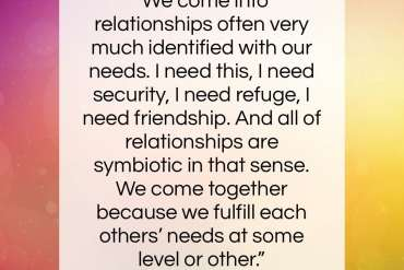 "Ram Dass quote: ""We come into relationships often very much…""- at QuotesQuotesQuotes.com"