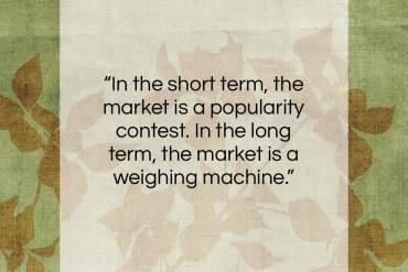 "Warren Buffett quote: ""In the short term, the market is…""- at QuotesQuotesQuotes.com"