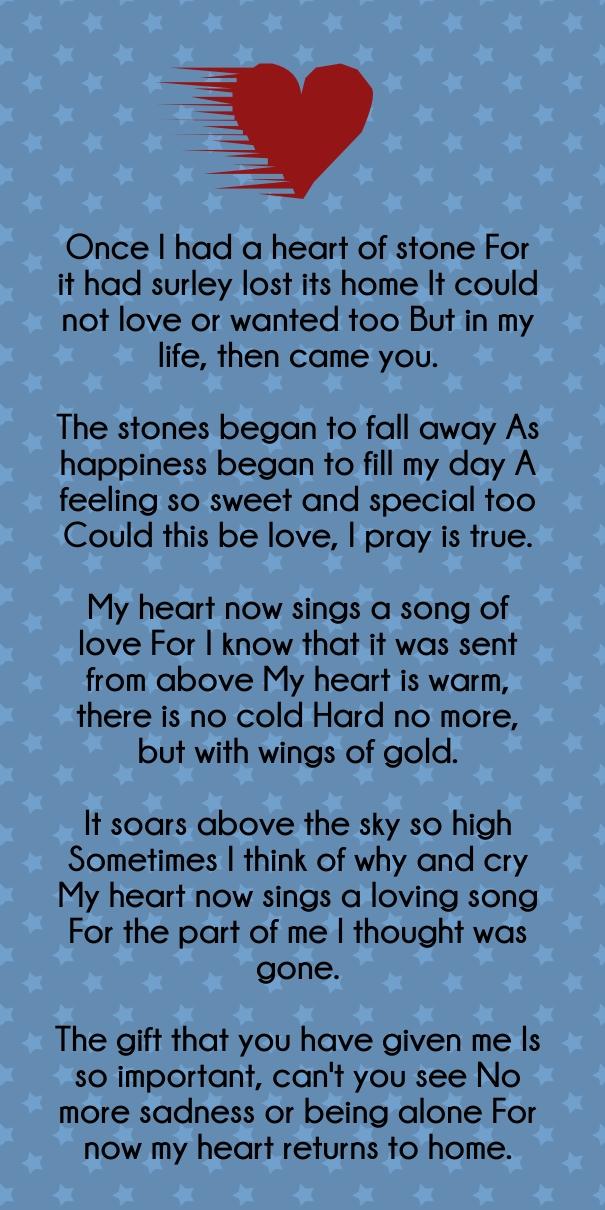 Words Heart Her Love