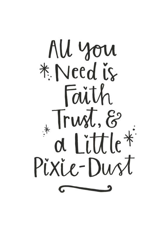 Tinkerbell \'Pixie-Dust\' Quote - Nursery Printable - Girls ...