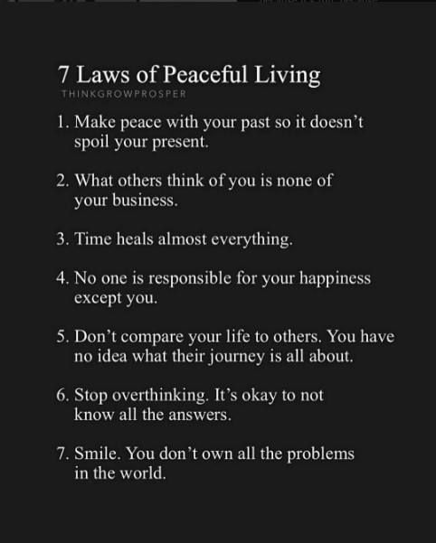 Inspirational Positive Quotes 7 Laws Of Peaceful Life Quotesviral Net Your Number One Source For Daily Quotes