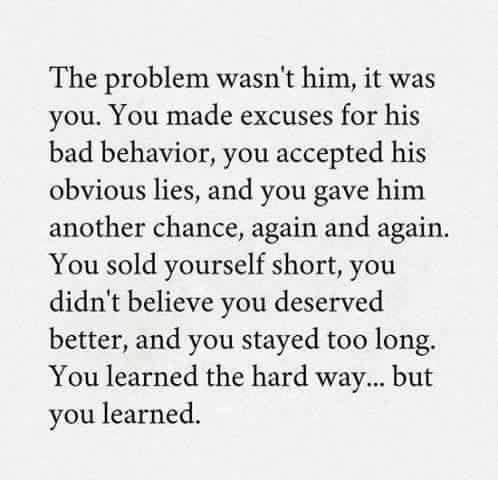 Moving On Quotes :The last year HAS in fact been my fault ...