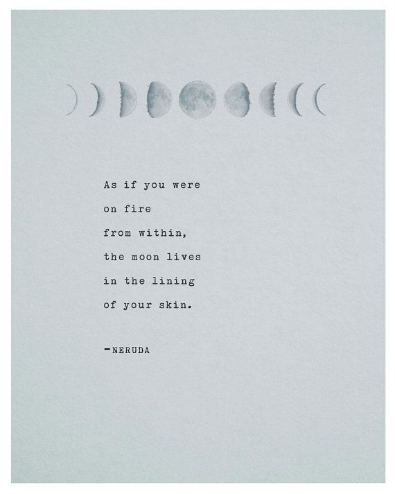 Pablo Neruda Poetry Print Typography Poster By