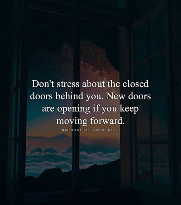 Inspirational Positive Quotes :Dont stress about the closed ...