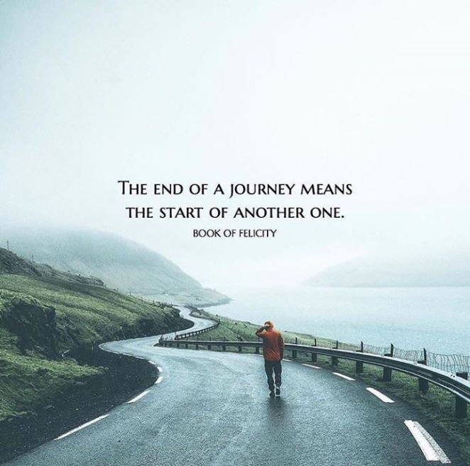 Inspirational Quotes About Life S Journey: Inspirational Positive Quotes :End Of A Journey Means