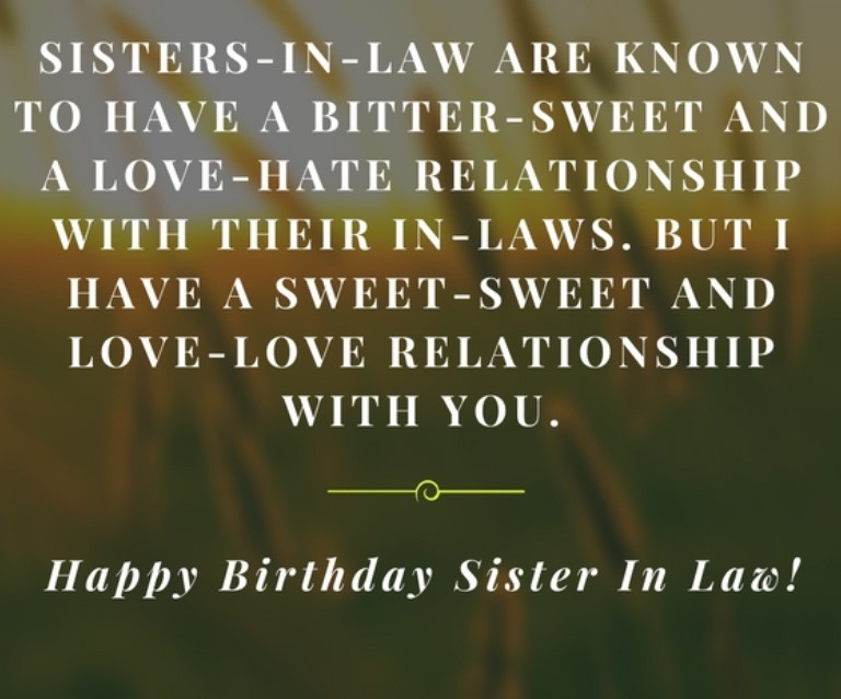 40 Happy Birthday Wishes For Sister In Law Funny Images Quotes Yard