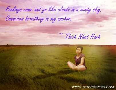 Meditation breathing quote