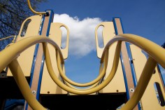 Smiling playground equipment