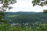 Climb up Mount Tom -- Woodstock view