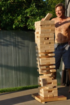 Giant Jenga warrior