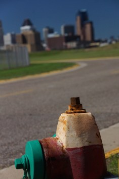 View from airport fire hydrant