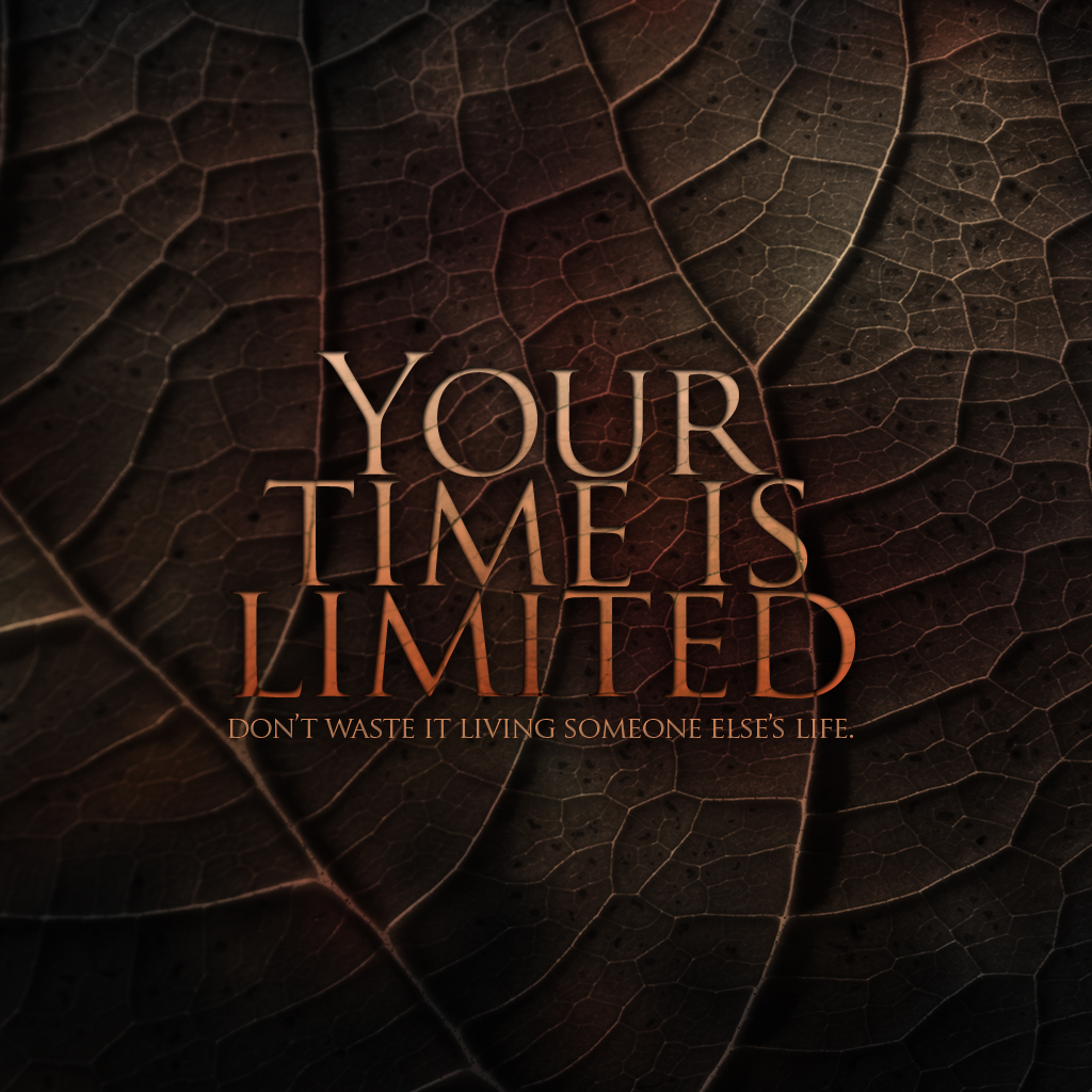 Don Draper Quote Wallpapers Your Time Is Limited Inspirational Quotes Quotivee