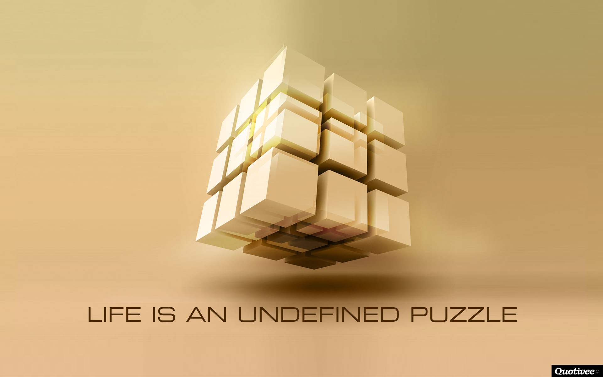 Wallpaper Quote About Life Life Is An Undefined Puzzle Inspirational Quotes Quotivee