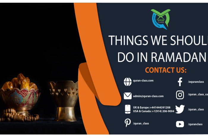Things we should do in Ramadan
