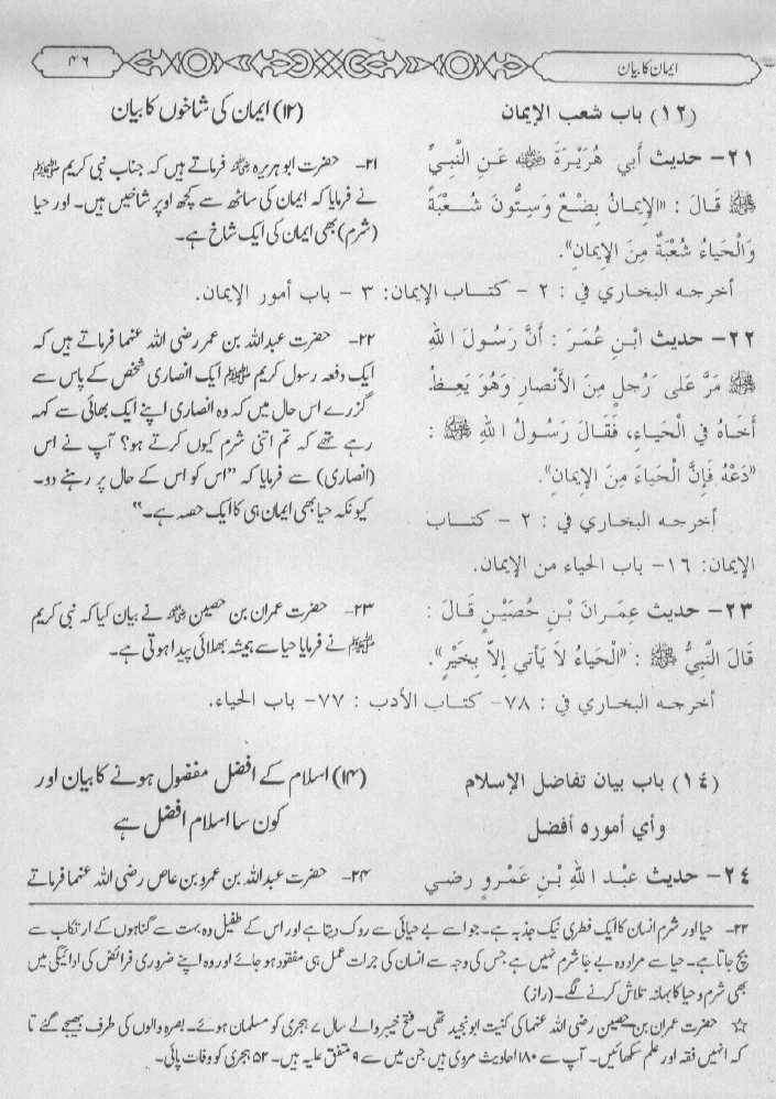 Daily Hadith With Urdu Translation 05 October 2013 (28